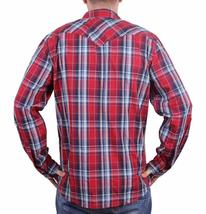 NEW LEVI'S MEN'S CLASSIC COTTON CASUAL BUTTON UP LONG SLEEVE PLAID RED 3LYLW1262 image 3