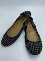 Lucky Brand 7.5 LP Erin Black Gray Houndstooth Ballet Flats Shoes - $24.99