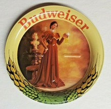 """Vintage Budweiser Beer Anheuser Busch Lady in Red Metal Coasters  3.5""""  New H9 - $9.99"""