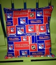 Rangers Pillow NHL Pillow New York Rangers Pillow HANDMADE In USA Hockey... - $9.99