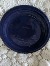 Genuine Fiesta Dinner Plate 9.5 Dark Blue Vintage Made USA - $14.54
