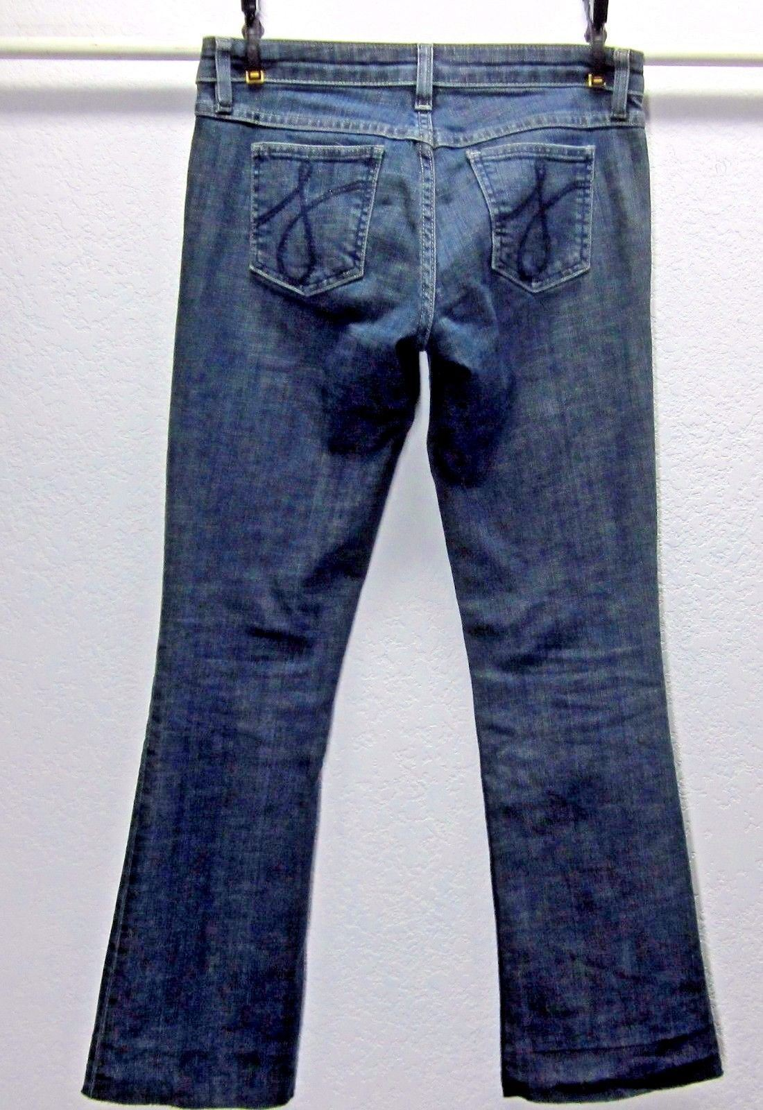 JUICY COUTURE THE CALI WOMEN'S BOOT CUT Sz 26 (29x27) DARK STRETCH BLUE JEANS image 2