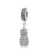 Authentic Pandora Sterling Silver Dazzling Dress Clear CZ Dangle Charms - $25.99