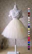 LIGHT GRAY Full Tulle Skirt Knee Length Ballerina Skirt Gray Skirt Plus Size NWT image 5