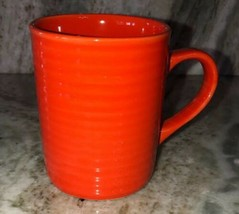 Royal Norfolk Orange Stoneware Coffee Mugs Cups-Set Of 4-SHIP 24 HOURS Brand New - $40.98