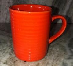 Royal Norfolk Orange Stoneware Coffee Mugs Cups-Set Of 4-SHIP 24 HOURS Brand New - $48.87