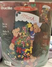 "Bucilla Decorating the Tree Bears Felt Holiday Stocking 18"" Craft Kit NE... - $28.66"