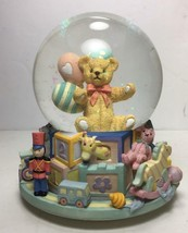 "NEW San Francisco Music Box Company ""TOYLAND"" w/ Teddy Bear 7"" Musical Globe image 2"