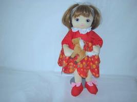 "2007 Sugar Loaf Doll Holding Horse Plush Toy 16"" - $17.82"
