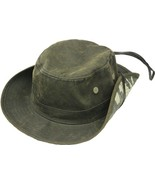 Henschel Cotton Oilcloth Booney Water Repellant Camo Underbrim Distresse... - $51.00