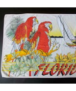 Vintage Busch Gardens Florida Beach Towel Parrots Sailboat Hibiscus 1980s - $32.66