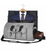 Bag Garment Bag Dress Costume Compartment for Shoes Strap Of Shoulder Grey - $273.68