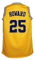 Juwan Howard #25 Custom College Basketball Jersey New Sewn Yellow Any Size image 2