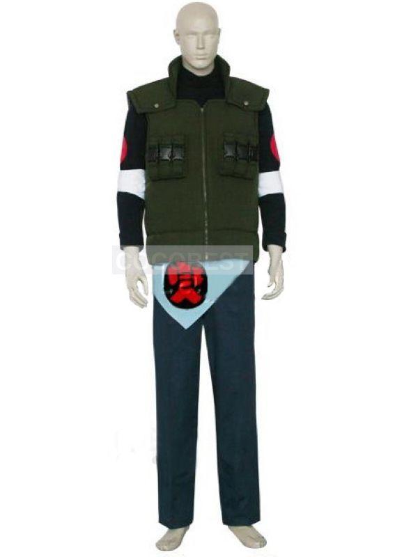Naruto Asuma Sarutobi Halloween Cosplay Costume any size Jacket Waistcoat pants