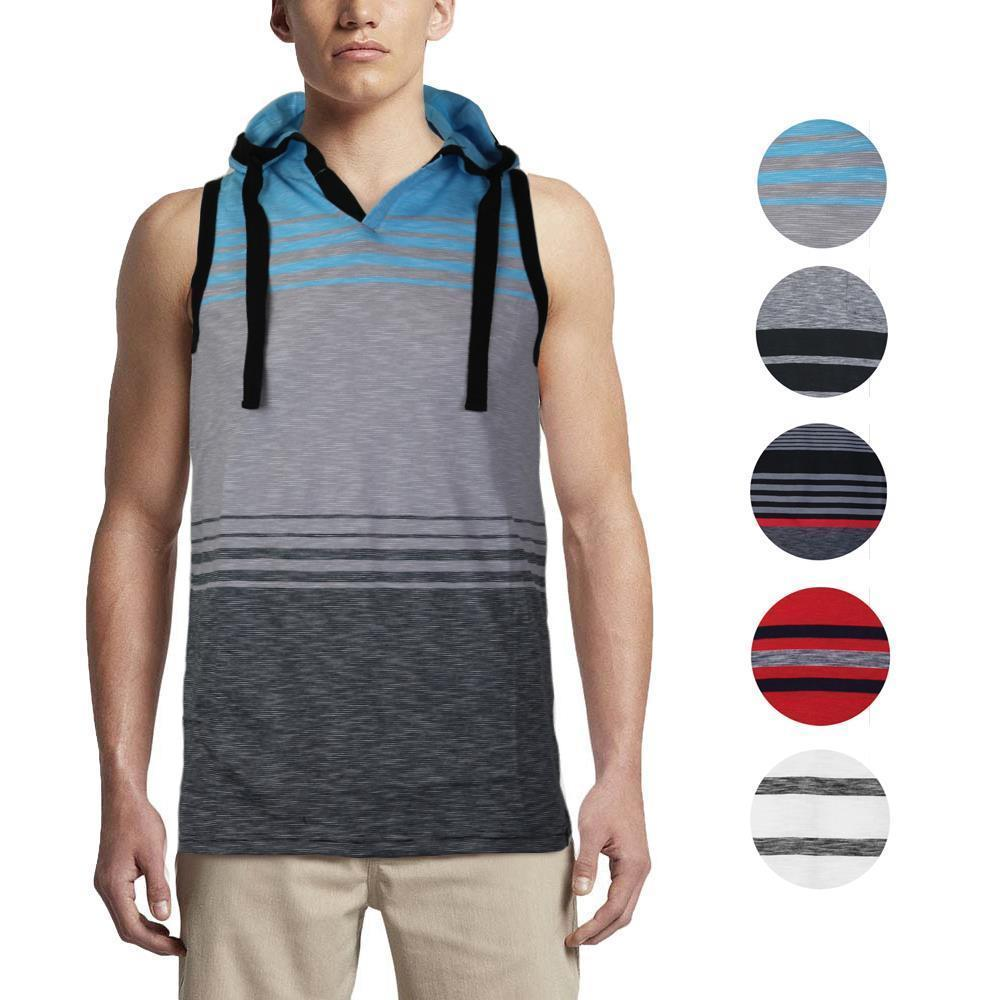 Men's Sport Gym Lightweight Sleeveless Pullover Tank Top T-Shirt Hoodie Vest