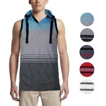 Men's Sport Gym Lightweight Sleeveless Pullover Tank Top T-Shirt Hoodie Vest