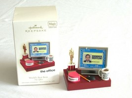"Hallmark Ornament ""The Office"" Worlds Best Boss Dunder Mifflin 2009 Soun... - $54.99"