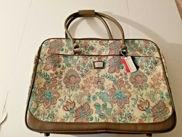 Vintage American Tourister Luggage Suitcase Zippered Floral Tapestry Bag Strap  - $32.73