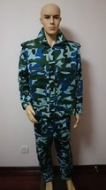Tactical Combat Uniform Shirt Pant Camo Camouflage Uniform Suit Sets Blue L - $18.09