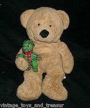 Ty Pluffies 2005 Bebé Beary Merry Oso de Peluche Marrón Tostado Juguete Felpa - $10.75