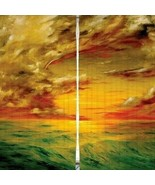 Curtains Ocean Waves Sunset Print Backdrop 9285 - $38.09