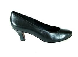 Easy Spirit Blue Leather Slip On Pumps Kitten Heels Shoes Women's 6 1/2 B (SW11) - $41.99