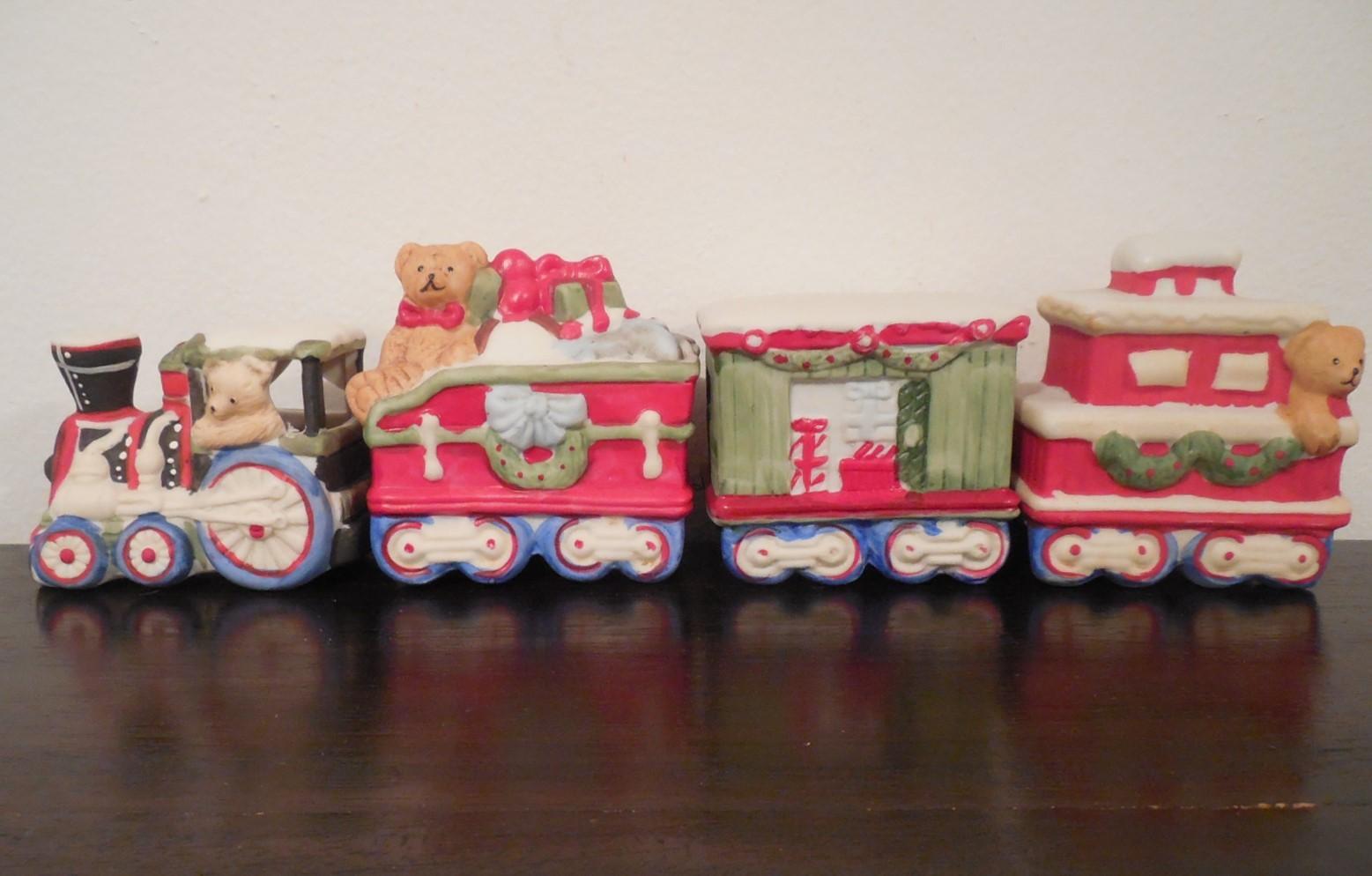 Christmas Train, Ceramic Train Figurine, and 50 similar items