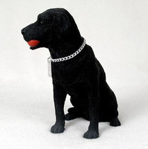 LABRADOR RETRIEVER LAB (BLACK) MY DOG Figurine Statue Pet Lovers Gift Resin - $28.50