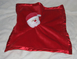 Baby Essentials Red Velour Security Blanket Lovey Christmas Santa Claus Rattle - $10.29