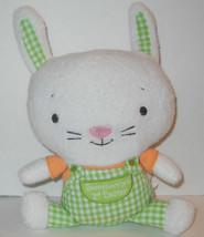 "Somebunnys 1st Easter Hallmark Rabbit Stuffed Plush Soft Toy 8"" Green Pl... - $15.79"