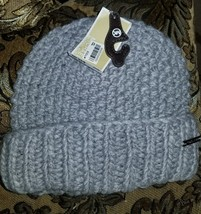 Michael Kors Womens Cable Knit Cuff Hat /Beanie GREY NWT. - $19.99