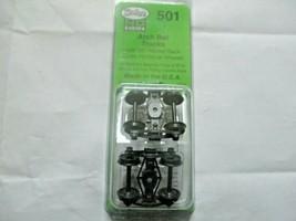 Kadee # 501 Arch Bar Metal Trucks Code 110 Metal Ribbed Wheels 1 Pair HO Scale image 1