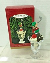 1999 Sundae Golfer Hallmark Christmas Tree Ornament MIB Price Tag - $18.32