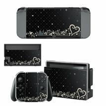 Kingdom Hearts Nintendo Switch Consoles Joy-Con Dock Vinyl Skins Stickers Black - $9.70