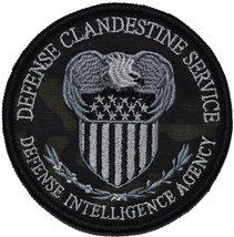 Defense Clandestine Service - 3.5 inch Round Patch (Multicam BLACK) - $6.85
