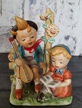 Vintage Lipper and Mann Figurine Boy & Girl Playing Singing Music - $24.98