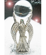 HAUNTED WIZARD WITH CRYSTAL BALL CALL TO POWER EXTREME MAGICK ILLUMINATI - $137.77