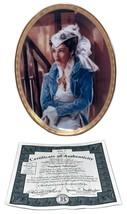 Sapphire Splendor Gone with the Wind Plate Cameo Memories 1997 Bradford Exchange - $39.60