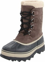 SOREL Men's Bruno Brown Caribou Winter Snow Boots Size 10 US 43 EUR New in Box