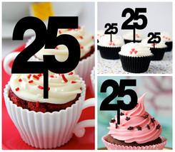 25th Anniversary Wedding,Birthday Cupcake topper, we still do Package : 10 pcs - $10.00