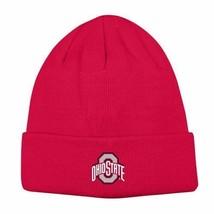 Ohio State Buckeyes Mens CUFFED Knit Beanie Winter Cap Hat- One Size - NWT - $12.55