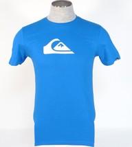 Quiksilver Logo Blue Short Sleeve Tee T Shirt Mens NWT - $18.74