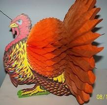 Vintage Turkey honeycomb thanksgiving Beistle t... - $29.70