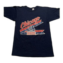 Vintage 80s Champion Men's Size M Medium Chicago White Sox T Shirt Blue - $39.93