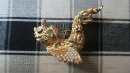 Vintage RARE Designer Dina Tevas Dragon Brooch 6.9cm - $54.75