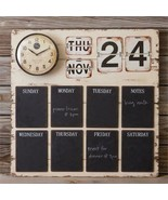 Country new large wall clock Organizer w/chalkboards, calender - $177.64