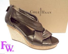 COLE HAAN Size 8 Bronze Delfina Espadrille Wedges Sandals Shoes w/ N. Air - $57.60