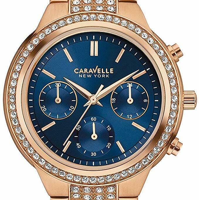 Caravelle New York 36mm Women's 44L181 Analog Display Quartz Rose Gold Watch - $94.05