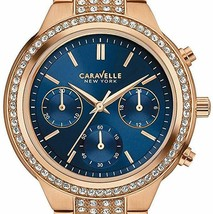 Caravelle New York 36mm Women's 44L181 Analog Display Quartz Rose Gold W... - $94.05