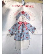 Older Cranston VIP Bunny Rose Doll Printed Fabric Sewing Kit Panel Excel... - $14.36